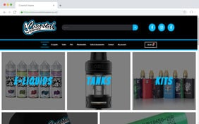 Coatal Vapes E-Commerce Website - Black Diamond Design