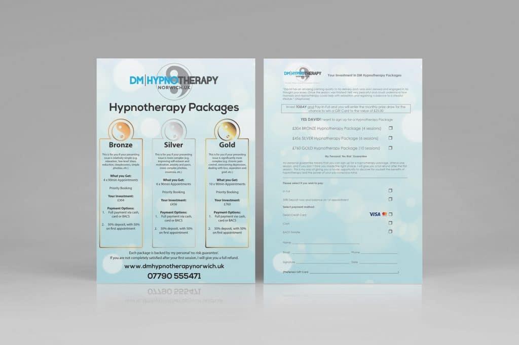 DM Hypnotherapy Flyer Design