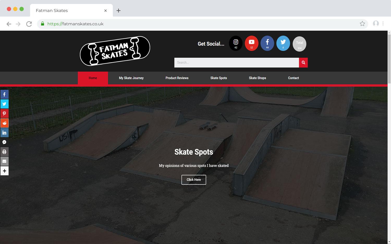 Fatman Skates - Black Diamond Design